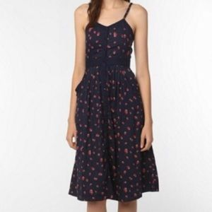 Anthropologie Cooperative Strawberry Dress, 8/M